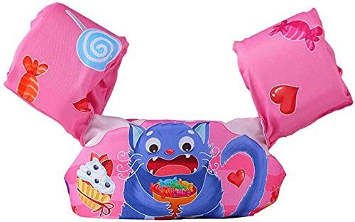 ZinHen Simväst för barn småbarn simning armband, flythjälpmedel simning träning säkerhet flytande väst halkfri simhjälp för pojkar flickor 1-6 år 10-30 kg (D)