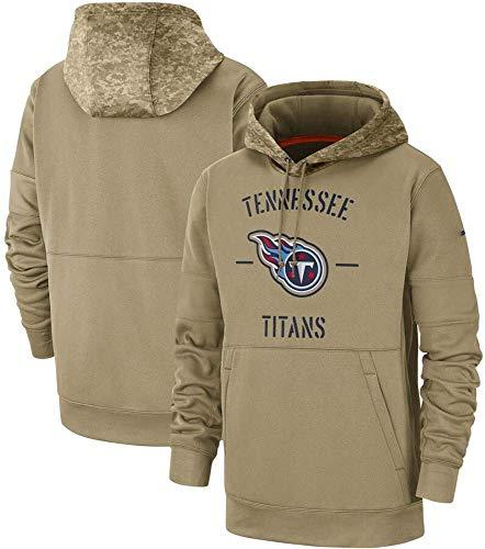 xisnhis Rugby Trikot,Herren American Football Hoodie -Tennessee Titans Logo Trainings Sweatshirt Kapuzenpulli Sportkleidung, Unisex