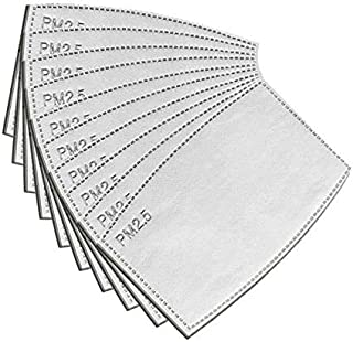 BAGGRA 10PCS face cover Filter Pads for Adult Replaceable Filter Paper for face cover generic Filter 5-Layer Anti P-M-2.5 Dust-Proof Safety Breathing Filter