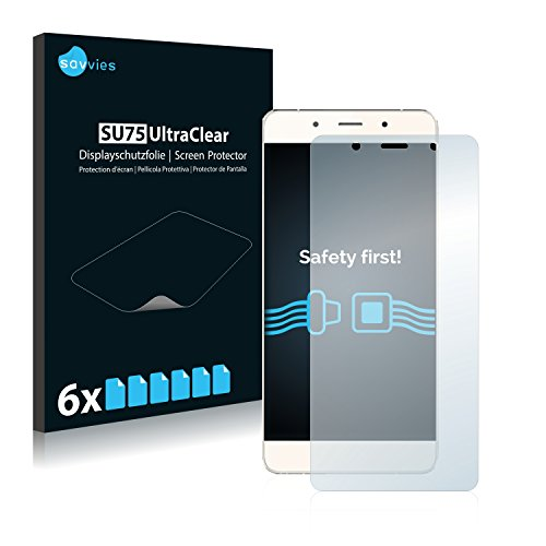 Savvies 6X Schutzfolie kompatibel mit Hisense C1 Bildschirmschutz-Folie Ultra-transparent