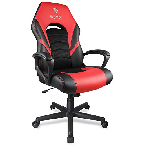 EasySMX Gaming Chair Racing Style Office Chair, PU Leather &...