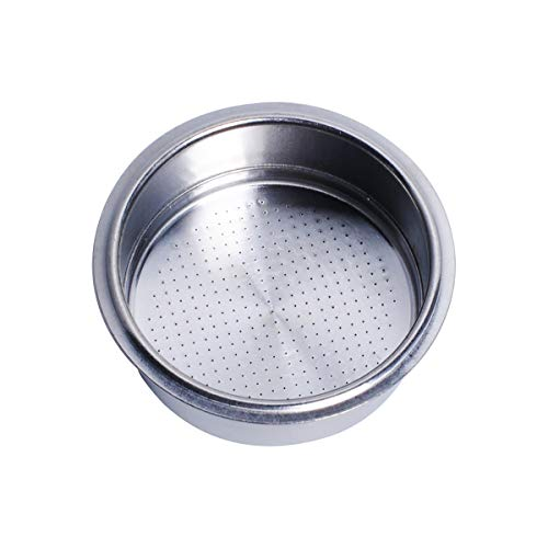 52mm Filter Basket, Pressurized Espresso Filter Basket Stainless Steel Double Wall Portafilter Basket Compatible with GUSTINO