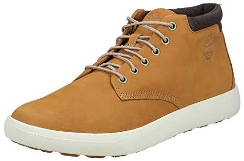Timberland Ashwood Park Leather, Stivali Chukka Uomo, Giallo Wheat Nubuck, 42 EU
