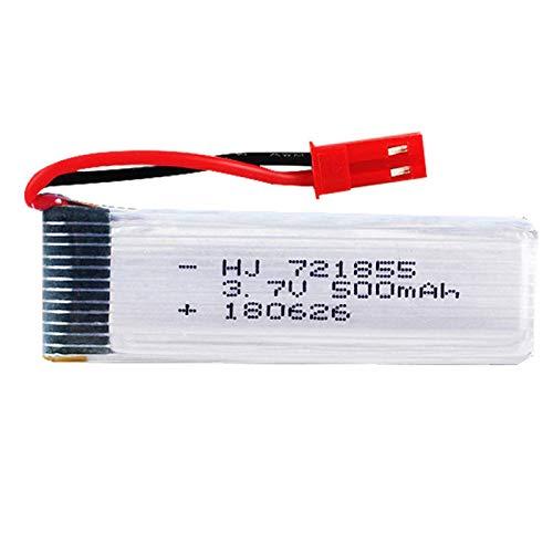 RFGTYH Batteria Lipo 3.7V 500mAh 721855 per WLtoys V929 V966 V977 X20 V959 V212 V222 H37 H07 per UDI U815A U818A L6036 Giocattoli Parti della Batteria JST