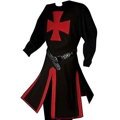 LuBHnna Túnica de Caballero Medieval Cruzado Caballero templario Disfraz de Guerrero túnica...