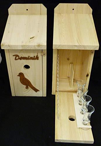 Vogelhaus Schnapsbar Garten Geschenk mit Namenswunsch und Vogelmotiv Hochzeit Hochzeitsgeschenk personalisiert