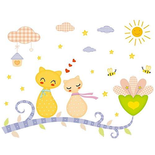 ZRDMN Wandaufkleber Wand-liebevoller Cartoon-Wandaufkleber und einladendes Zuhause Die Plakate in einer Ecke Ihres Babys können Kunstwandbilder für Schlafzimmer Wohnzimmer Büro Familie Kindergarten