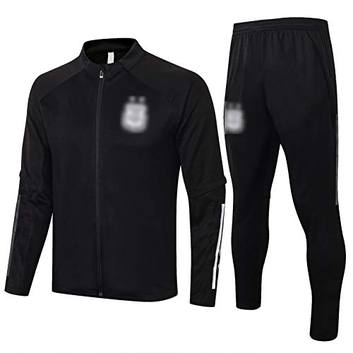 OJN 20 21 Argentinien Fußball-Training Uniform, langärmeliger Sport Trainings-Uniform, Jugend Neutral atmungsaktiv und schnell trocknend (S-XXL) XL