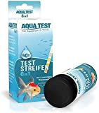 Mr. Petz Aqua Test - 60 x Optimierte Aquarium Teststreifen - 6in1 Schnelltest für Aquariumwasser - PH Test Stripes -...