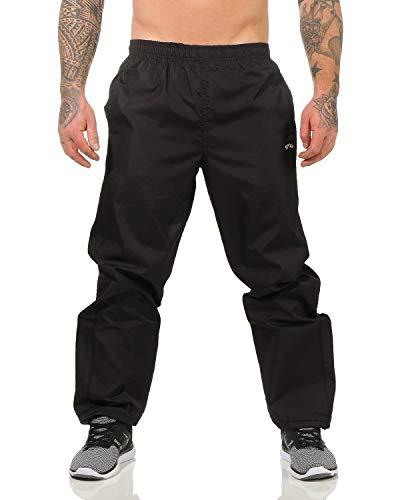 ZARMEXX Herren Jogginghose Trainingshose Sport Fitnesshose Freizeithose Jogger Sportswear Gym (schwarz, 2XL/3XL)