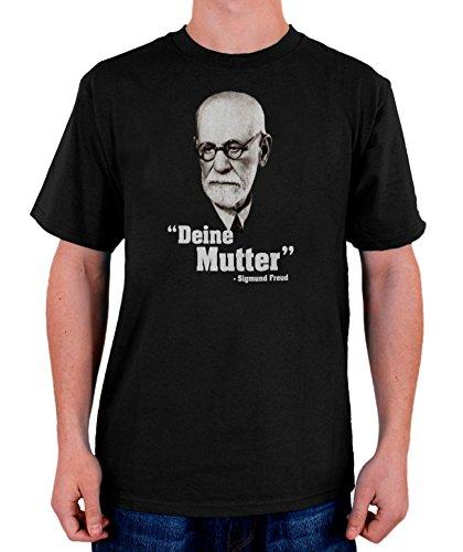 Stylotex Herren T-Shirt Basic Deine Mutter, Größe:XXL, Farbe:schwarz