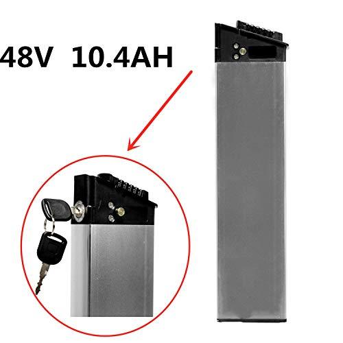 LANKELEISI Batería Oculta 48V 10.4AH para Bicicletas eléctricas. Batería de Repuesto de biciclo eléctrico ebike e-Bicyle.