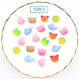 iSuperb 70 Piezas Resina Gummy Animal Candy Slime Charms Kawaii Flatback Imitation Jelly para Decoración la caja del Teléfono, Scrapbooking, DIY Crafts Accessories