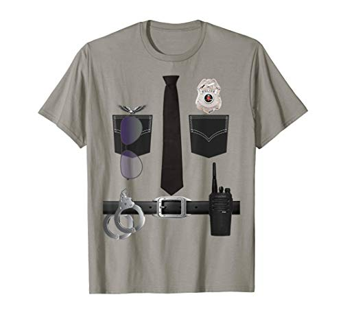 Kinder Polizei Uniform Shirt – Polizist Halloween-Kostüm