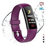 moreFit Fitness Tracker HR, Waterproof Activity Tracker Watch with Blood...