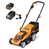 LawnMaster CLMF4015K Cordless 15-Inch Brushless Lawn Mower 40V Max Lithium-Ion with 4.0Ah Battery &Fast Charger