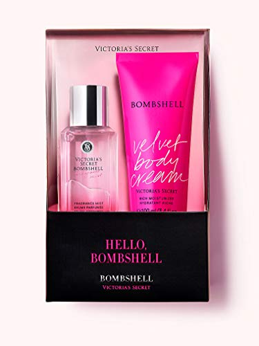 Victoria's Secret Bombshell Intense Fragrance Mist and Body Lotion 2-Piece Gift Set for Women