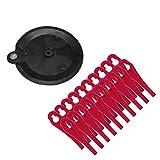 Florabest Cuchillas de plástico (20 unidades) con disco de corte para cortacésped Florabest FAT 18 B3 - LIDL IAN 273039