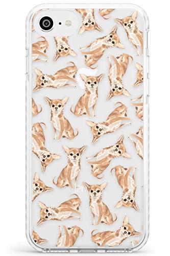 Case Warehouse Patrón Chihuahua Perro Acuarela Impact Funda para iPhone 6 TPU Protector Ligero Phone Protectora con Transparente Mascota Claro Amante De Los Perros