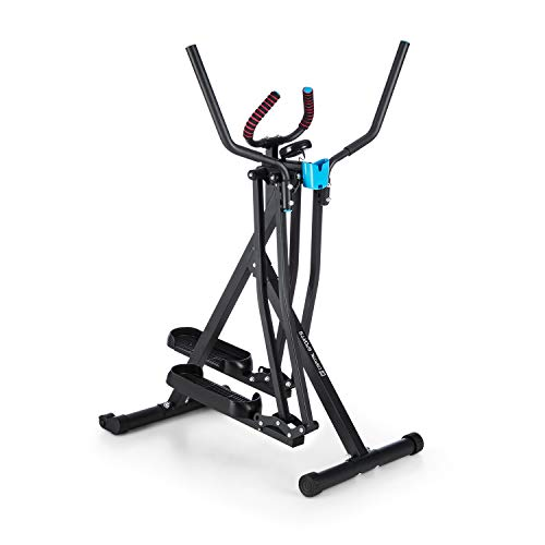 Capital Sports Air-Walker • Bicicleta elíptica • Caminador • Completo • Movimiento Horizontal y Vertical • Ordenador • Pantalla LCD • Soporte de Tablet • Plegable • hasta 100 kg • Negro