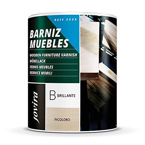 BARNIZ MUEBLES AL AGUA Para el cuidado y decoración de muebles de madera. (750 ML, BRILLANTE)