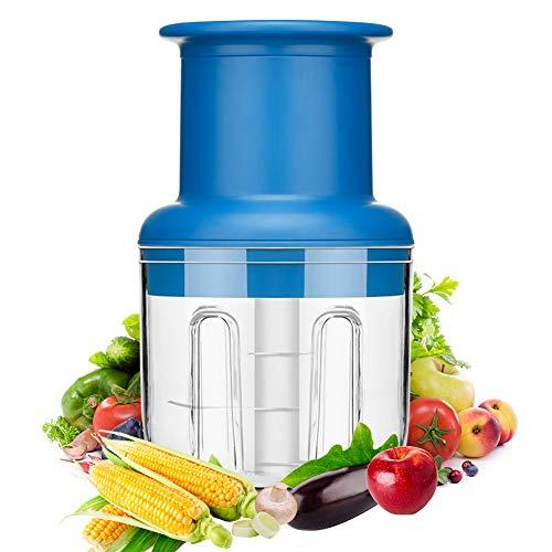 Zerkleinerer E-More Elektrisch Universalzerkleinerer Fassungsvermögen: 300ML; Multizerkleinerer; Universalzerkleinerer für Gemüse, Obst, Zwiebeln, Nüsse, Knoblauch, Babynahrung
