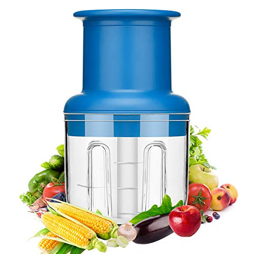 Mini Food Chopper, E-More Electric Garlic Chopper, USB Charging, 300ML Bowl, 2 Sharp Blades, 45W Food Processor for Meat, Vegetables, Fruits and Nuts
