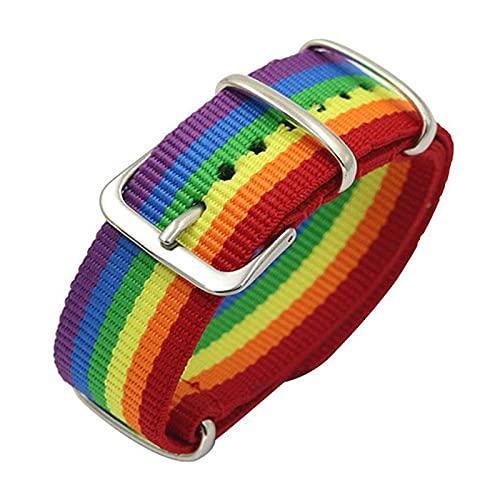 Pulsera LGBT Orgullo Gay y Correa para Reloj con Bandera Arcoiris de Colores