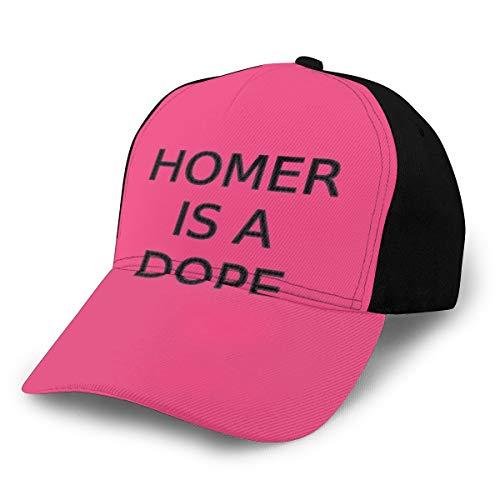 N/ Homer is A Dope - Gorra de béisbol Ajustable, Color Negro
