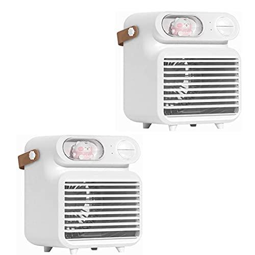 WLSPB Aire acondicionado portátil ventilador humidificador spray 3 en 1 refrigerador de aire humidificador escritorio pequeño refrigerador de aire ventilador eléctrico