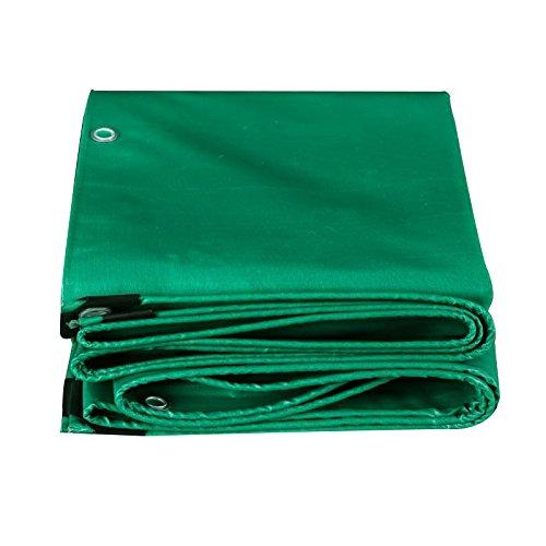 ZZYE Lona Lona de Lona Potente protección al Sol Impermeable Utilizada en Poncho Familia Camping Jardín al Aire Libre, Grosor 0.4mm, 500 g / m2, Verde Lona Impermeable (Size : 5X6m)