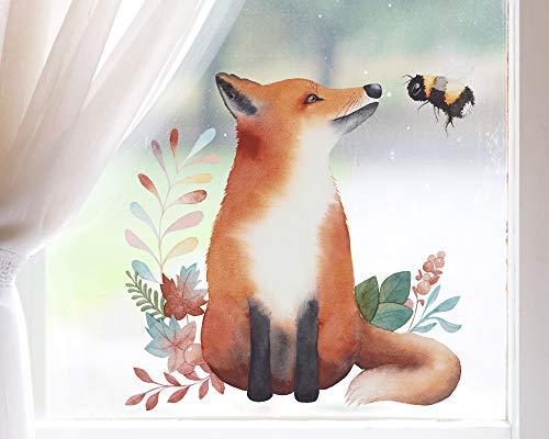 TinyFoxes Verlag KG Fensterbild Fuchs und Hummel