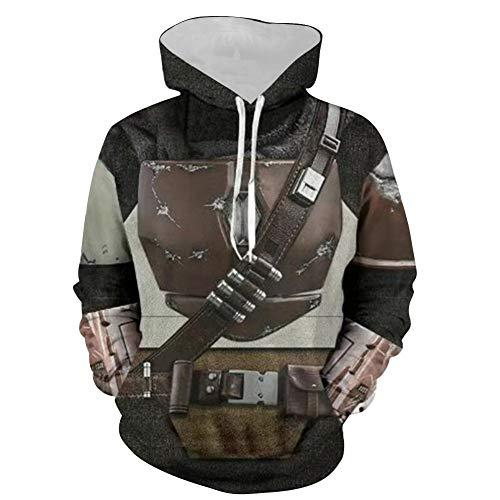 BIRDEU Mandalorian Hoodie Film Cosplay Kostüm Zubehör 3D-Druck Pullover Mode Sweatshirt Unisex Jacken