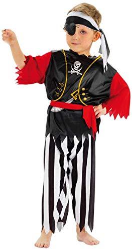 Folat 21681 Pirate pour Enfant Costume (4 pièces, Taille 116–134, Medium)