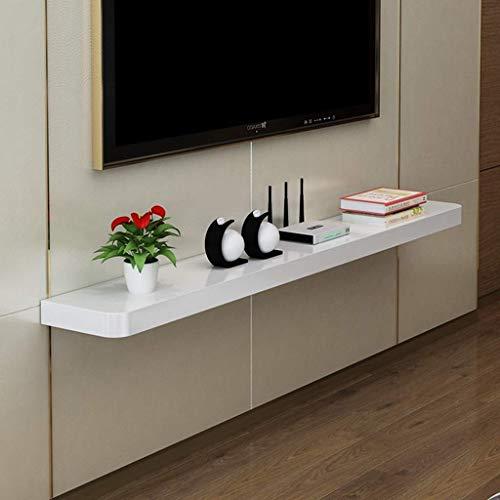 YXZN Armario de TV montado en la Pared Estante Flotante Estante de Pared Enrutador WiFi Multimedia Sky Box Set Top Box Caja de Cable Estante de Almacenamiento