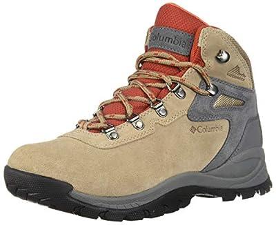 Columbia Women's Newton Ridge Plus Waterproof Amped Hiking Boot, Oxford Tan/Flame, 5.5
