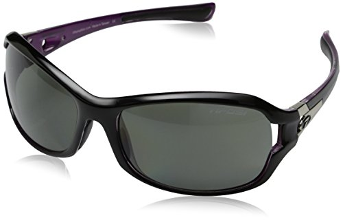 Tifosi Women's DEA Sl Polarized Wrap Sunglasses, Black & Pink, 64 mm