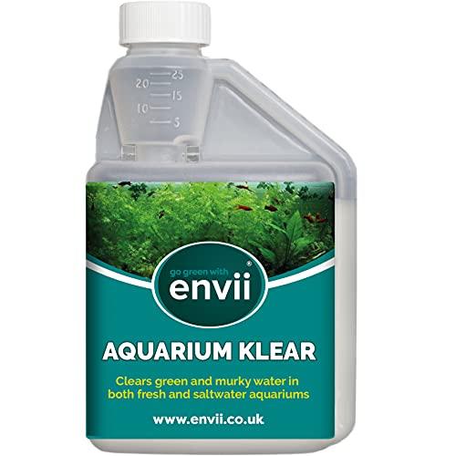 Envii Aquarium Klear – Aquarium Wasserklärer – Gegen Trübes, Grünes Wasser - Behandelt 4000 Liter