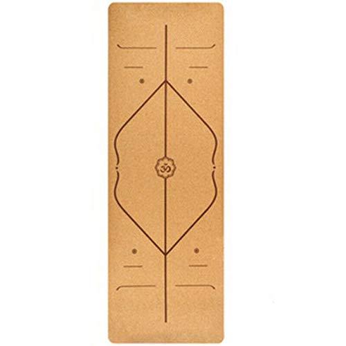 Esterilla de yoga de corcho natural, para relajarse en el gimnasio, entrenamiento, 5 mm de grosor, 3 patrones diferentes, cojín de fitness