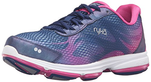 Ryka womens Devotion Plus 2 Walking Shoe, Blue/Pink, 10.5 US