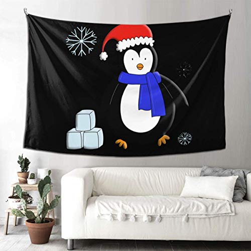 Ahdyr Tapiz de pingüino Chilly Willy Tapiz de Manta de Pared de 60 x 51 Pulgadas Tapices de Interior
