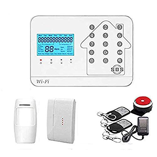 WiFi Smart Alarm System Kit, Wireless GSM Alarm Autodial System Touch Keyboard House Alarm System, for Home, Apartment, Office Store