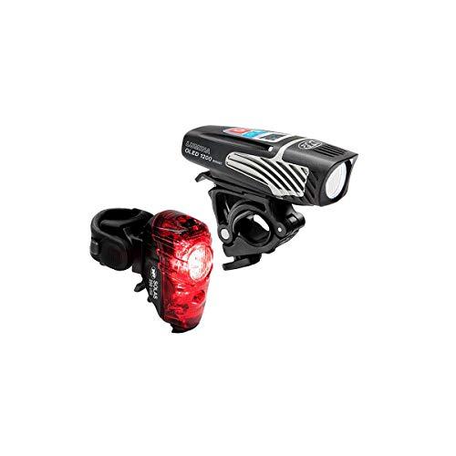 NiteRider Unisexs Lumina 1200 OLED BoostSolas 250 Combo Light Set Black One Size