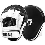 LangRay 1 Paio Pad Boxe, Colpitore Scudo Boxing Guantoni da Boxe Curvi da Boxe per Karate, Muay Thai...
