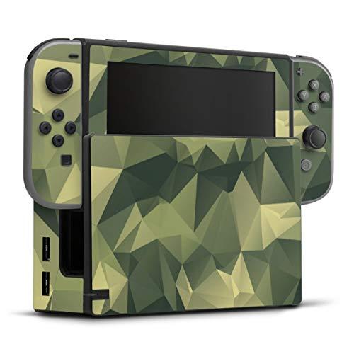 DeinDesign Skin kompatibel mit Nintendo Switch Folie Sticker Camouflage Tarnmuster Bundeswehr