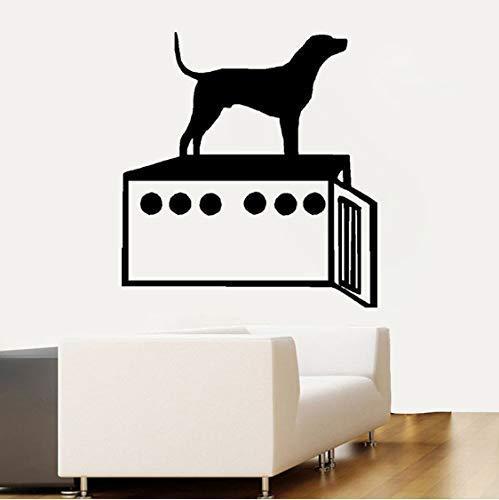 Hund Und Hundebox Nette Pvc Wandaufkleber Aufkleber Dekoration Raumdekoration Aufkleber Spaß Schöne 50,9 Cm * 55 Cm