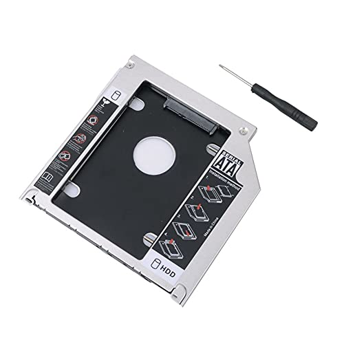 RGBS Hard Drive Caddy Tray 2nd HDD SSD Kit Compatible with 2.5' 9.5mm SATA HDD SSD 2nd HDD Adapter for Apple MacBook Pro Unibody 13 15 17 SuperDrive DVD Drive