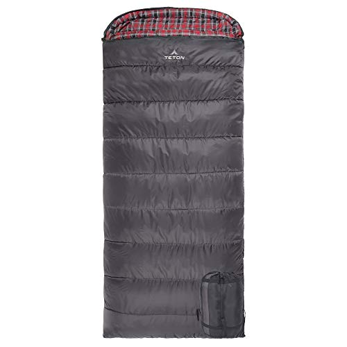 TETON Sports Celsius XL 32C 25F Sleeping Bag Sub 0 Degree Sleeping Bag Great for Cold Weather Camping Grey Right Zip