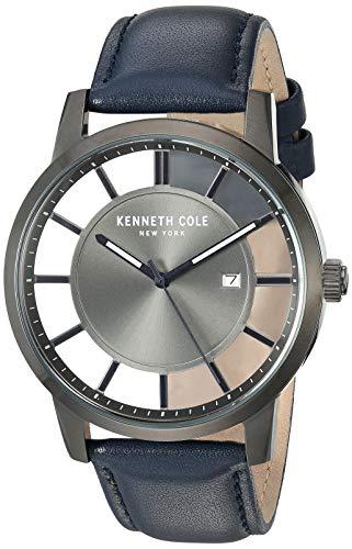 Reloj Kenneth Cole Transparency para Hombres 44mm, pulsera de Cuero Sintético