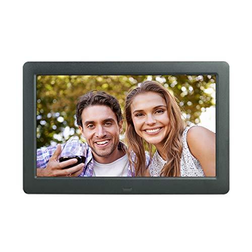 8,2-Zoll-Digitalfoto-Bilderrahmen 1280 x 800 16: 9 IPS-Display-Foto- / Musik- / Video-Player-Kalender, Uhr mit Fernbedienung, Unterstützung für USB-Laufwerk und elektronische Bilderbilder mit SD-Karte